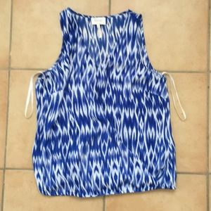 Laundry by Shelli Segal blue and white blouse